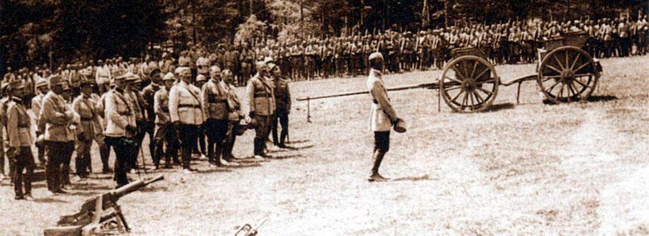 Trupe românești la Mărășești în 1917
